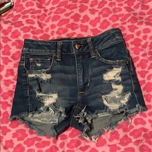 American Eagle ripped high-rise shorts